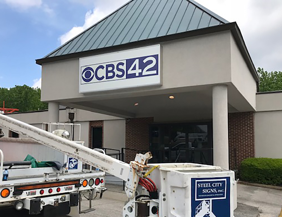 CBS Channel 42 sign