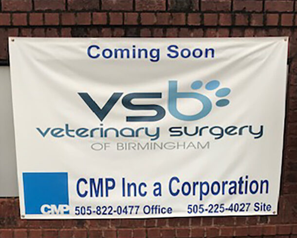 Coming Soon banner for VSB Veterinary Surgery