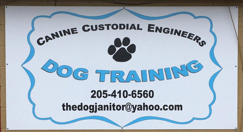 CCE Dog Training sign