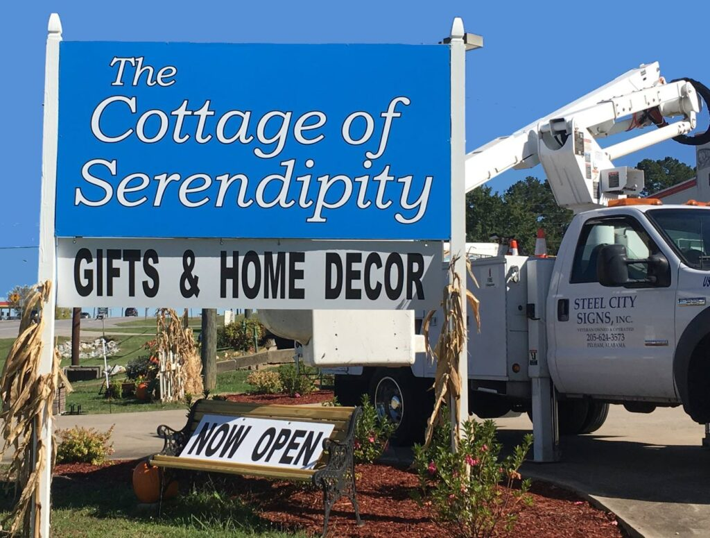 Cottage of Serendipity sign